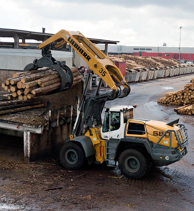 liebherr l580 loghandler scierie ilim timber