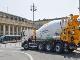 Un camion toupie 100% GNV chez Unibéton