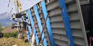 Pierre Balmand Maçonnerie grue à montage rapide IGO 21 Potain coffrage aluminium