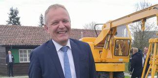 Andreas Böhm Liebherr International AG Suisse pelle sur pneus Kirchdorf
