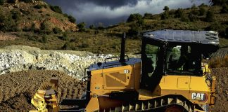 Bouteur, terrassement, Caterpillar, Production Made in Grenoble, guidage