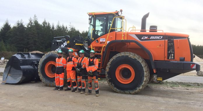 CEMEX Doosan Chargeuses sur pneus Europe Carrières