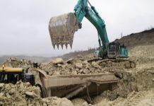 Kobelco SK850-LC10 Equipko Legrand cimenterie craie godet Blanchard TP Industrie