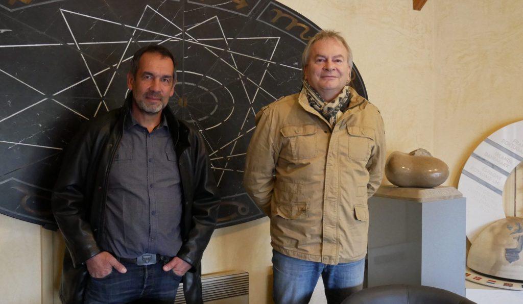 CFA Montalieu Laurent Pluys, Directeur et Jacky Pavéglio, responsable technique au CFA Unicem de Montalieu.
