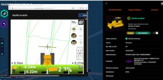 A79 Eiffage Capture Ecran Pousseur Komatsu D61PXI- Plateforme 3DMC+ Smart construction