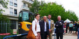 Chantier décarboné Bron Volvo CE, EDF, Vicat, Serpollet Bosh Rexroth